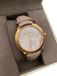Burberry Burberry Rose Gold Nude Leather Ladies Watch
