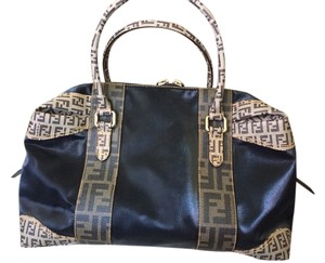 Fendi Iconic Classis Timeless Serial Numbered Satchel in Black/ Brown