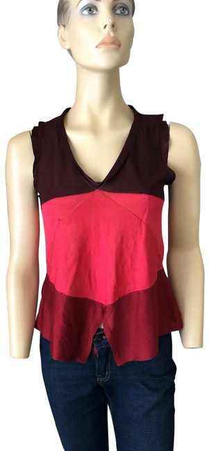 Item - Red/Pink Yvessaintlaurent Red/Pink Rayon/Silk Tank Top/Cami Size 4 (S)