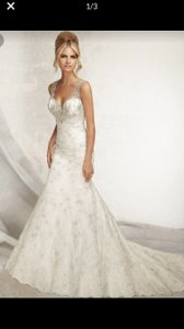 Mori Lee Ivory Gown Formal Wedding Dress Size 14 (L)
