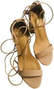 Liliana Chunky Suade Wrapping Free Shipping Beige Sandals