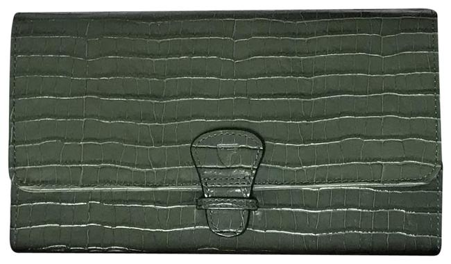 Item - Sage Classic Travel Croc Mini Wallet