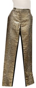 Diane von Furstenberg Straight Pants Black / Gold