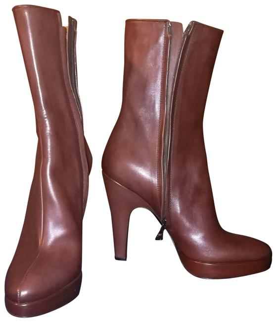 Item - Brown Classic Leather Platform Ankle Boots/Booties Size EU 41 (Approx. US 11) Regular (M, B)