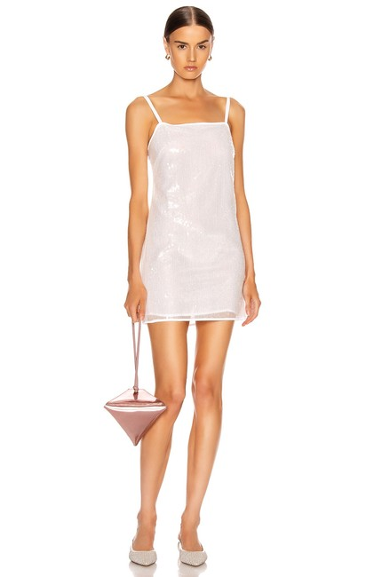 STAUD White Minnie Short Night Out Dress Size 0 (XS) STAUD White Minnie Short Night Out Dress Size 0 (XS) Image 1