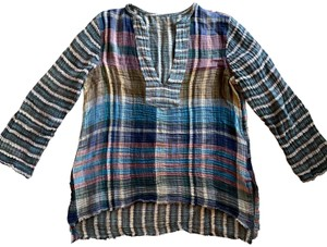 Raquel Allegra Plaid Cotton Tunic