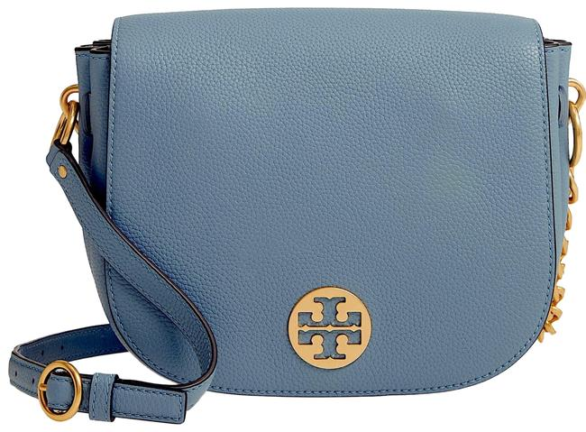Item - Women's Everly Flap Saddle Blue with Tag Leather Cross Body Bag