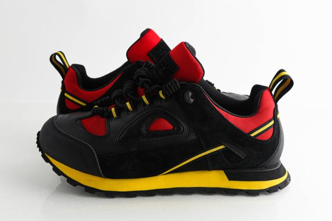 Item - Black Security Runner Leather Trainers Shoes