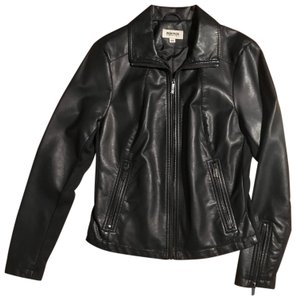 Kenneth Cole Reaction Faux Motorcycle Leather Jacket