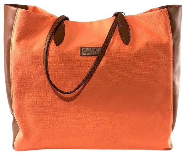 Item - Polo Golf Fabric Leather Island Coral Canvas Tote