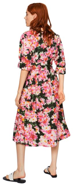 Zara Pink Floral Mid-length Casual Maxi Dress Size 10 (M) Zara Pink Floral Mid-length Casual Maxi Dress Size 10 (M) Image 1