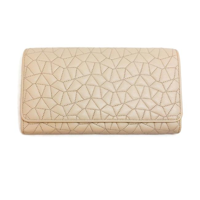 Item - Cream Quilted Flap Wallet