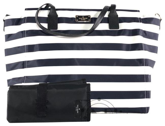 Item - Blake Avenue Taden Leather Tote Black / White Nylon Diaper Bag