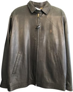 Polo Ralph Lauren Unisex Bomber Men's Brown Leather Jacket