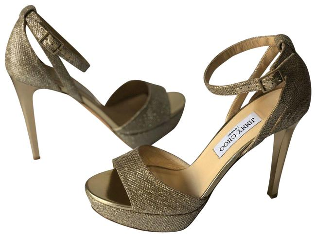 Item - Gold Glitter Kayden Platform Sandals Size EU 39.5 (Approx. US 9.5) Regular (M, B)