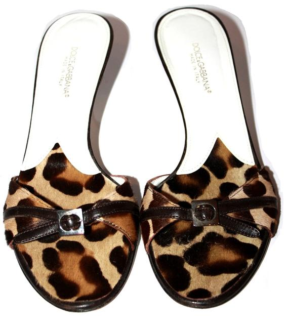 Item - Tan Dolce & Gabbana Leopard Hair Sandals Size US 6 Regular (M, B)