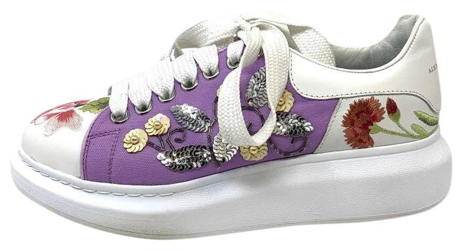 Item - Floral Sequin Embroidered Leather Sneakers Size EU 39 (Approx. US 9) Regular (M, B)