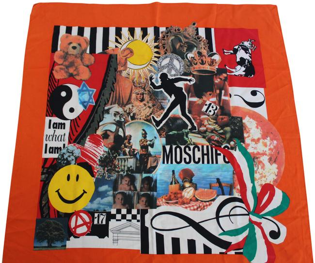 Item - Orange Multi Larioseta Silk I Am What I Am Scarf/Wrap
