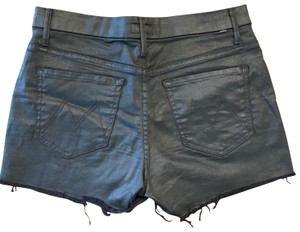 Mother Cut Off Shorts Black Waxed