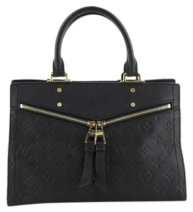 Louis Vuitton Sully Leather Tote in Black