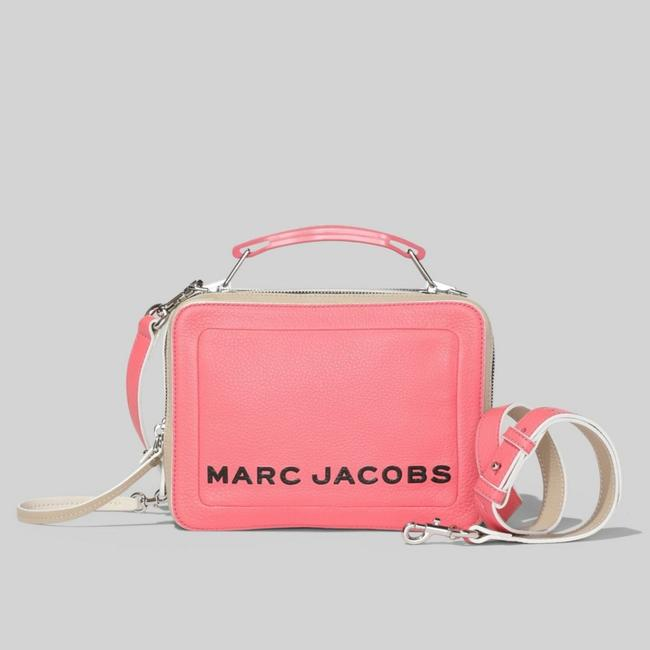 Item - Box The Colorblock Textured Pink Multi Leather Cross Body Bag