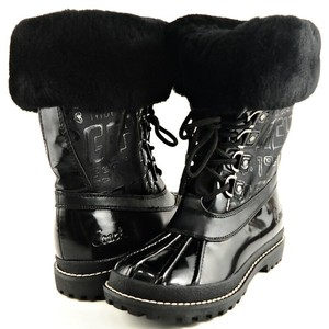 Coach Comfortable Winter Snow Black Boots