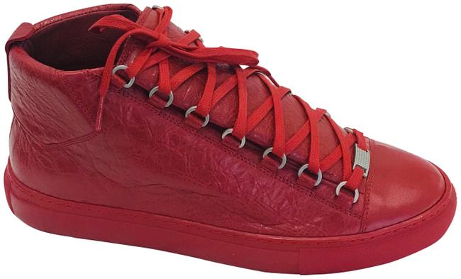 Item - Red Men 8.5 / Arena Leather High-top Sneakers Size EU 42 (Approx. US 12) Regular (M, B)