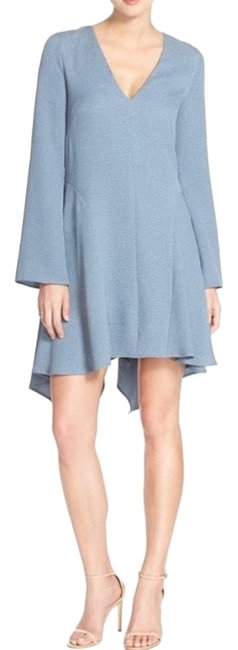 Item - Blue Robyn Long-sleeve Asymmetrical Xxs Mid-length Formal Dress Size 00 (XXS)