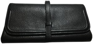 Annabel Ingall Pebbled Wallet Black Clutch