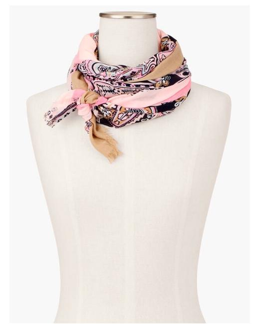 Item - Pink Paisley Oblong Scarf/Wrap