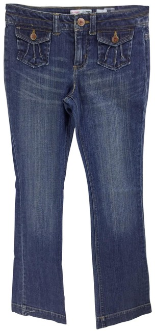 Item - Blue/Khaki Dark Rinse Four Pairs Girls Pants Boot Cut Jeans Size OS (one size)