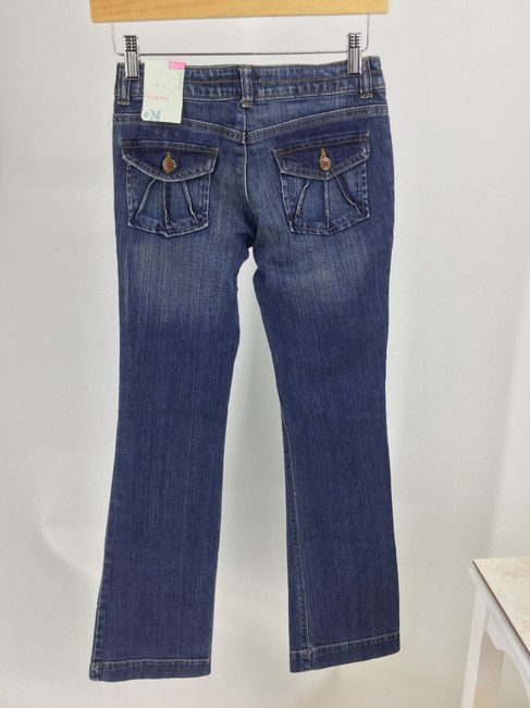 Old Navy Blue/Khaki Dark Rinse Four Pairs Girls Pants Boot Cut Jeans Size OS (one size) Old Navy Blue/Khaki Dark Rinse Four Pairs Girls Pants Boot Cut Jeans Size OS (one size) Image 2