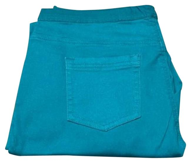 Item - Teal Comfort Classic 5 Pocket Pull-on Ankle Crop ( Large ) Boot Cut Jeans Size 36 (14, L)