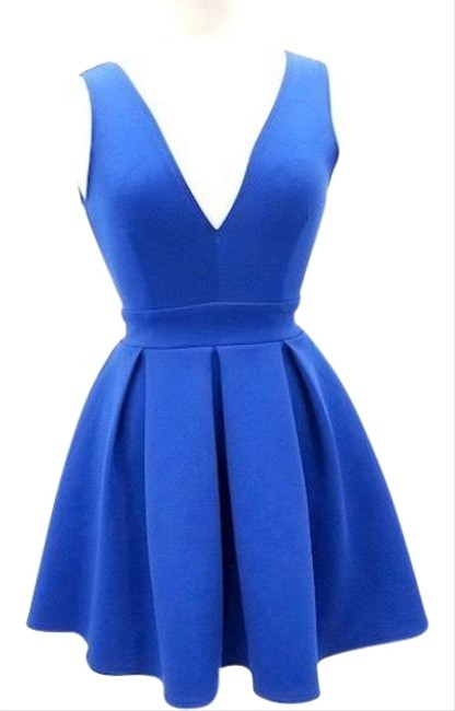 Item - Blue XS Ladies Fit Flare Mid-length Cocktail Dress Size 0 (XS)