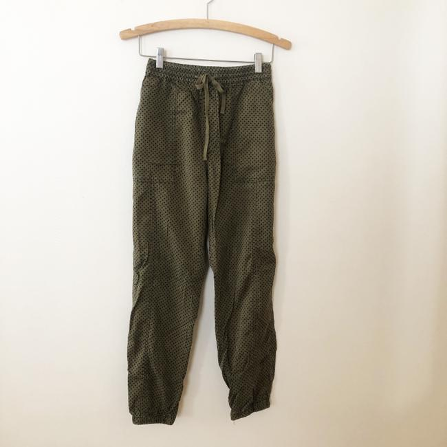 Anthropologie Green Flocked Joggers Pants Size 10 (M, 31) Anthropologie Green Flocked Joggers Pants Size 10 (M, 31) Image 2