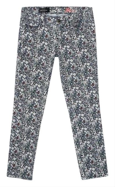 Item - Blue White Medium Wash Liberty Of London Toothpick Ankle Skinny Jeans Size 26 (2, XS)