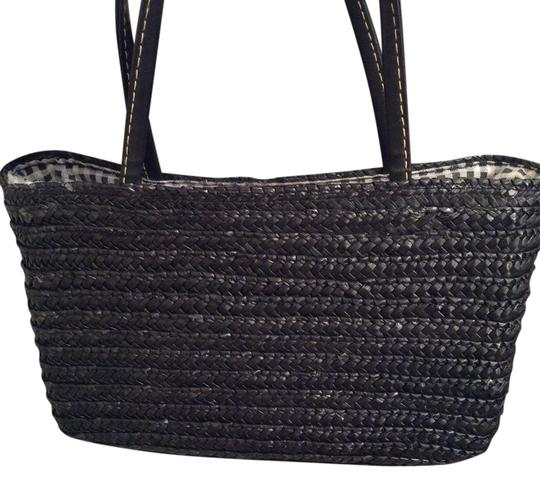 Other Small Small Satchel in Black wheat straw