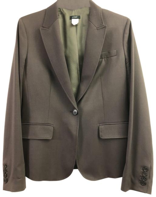 Item - Brown & Deep Olive Green Elegant Wool Jacket Blazer Size 8 (M)