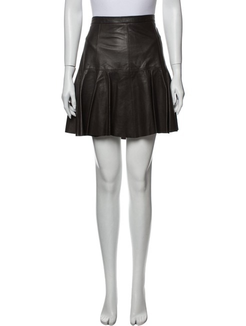 Item - Brown Lamb Leather A-line Pleated Skirt Size 4 (S, 27)