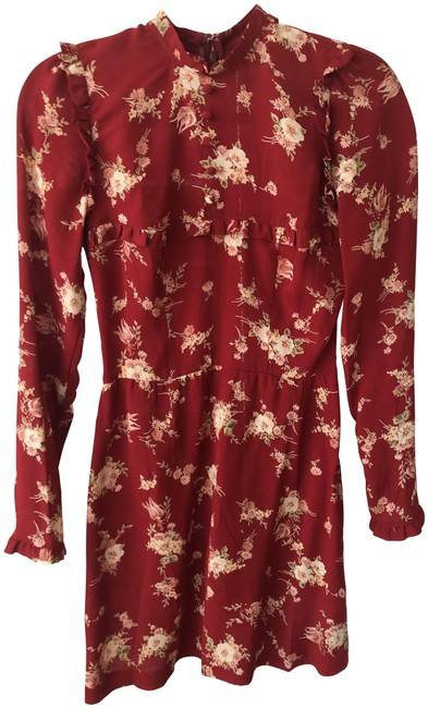 Item - Red/Multi Emmy Floral Short Casual Dress Size 2 (XS)