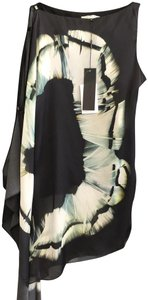 Halston New Style#fseo935p Butterfly Assymetrical Tunic