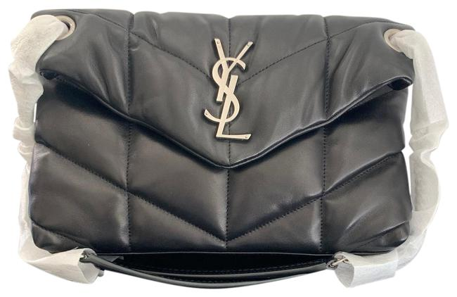 Item - Monogram Loulou Small Puffer Quilted Black and Silver Gunmetal Hardware Lambskin Leather Cross Body Bag