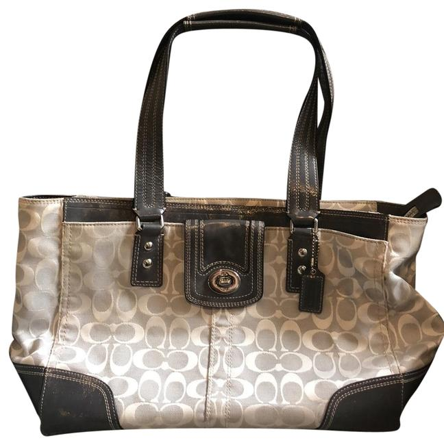 Item - Grey and White Canvas Tote