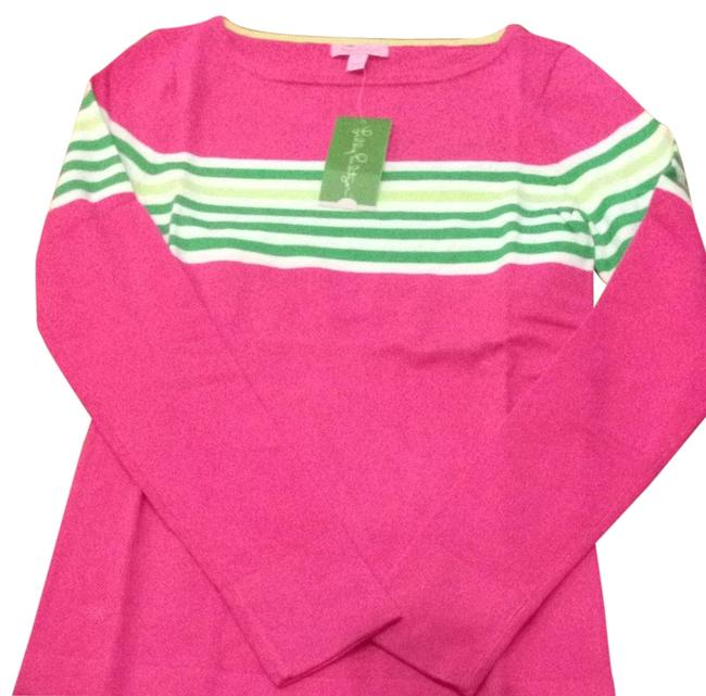 Preload https://item5.tradesy.com/images/lilly-pulitzer-maria-boatneck-capri-pink-sweaterpullover-size-8-m-2694994-0-0.jpg?width=400&height=650
