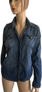 Juicy Couture Button Down Shirt Blue