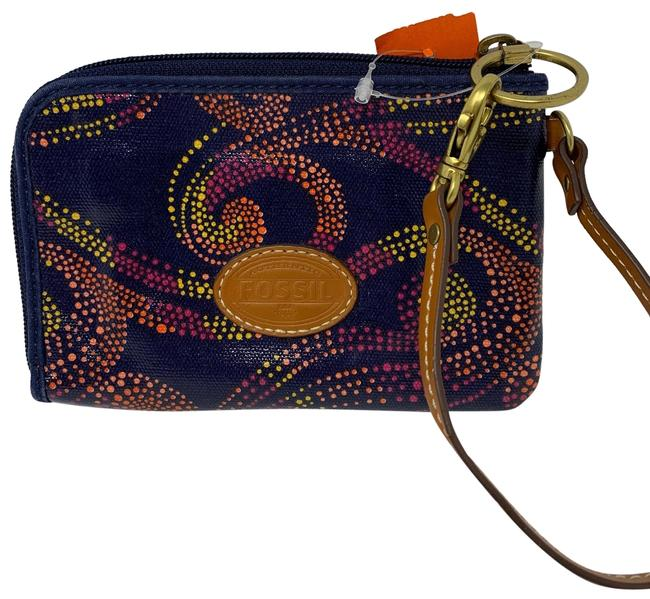 Item - Blue Pink Yellow Orange Wristlet