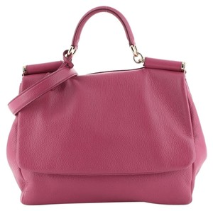 Dolce & Gabbana Leather Satchel in Pink