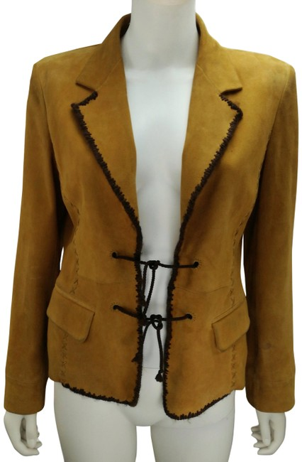 Item - Mustard Yves Country Style Suede Leather Blazer Size 4 (S)