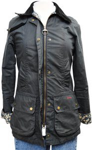 Barbour Liberty Waxed Cotton Waxed Floral Blue Jacket