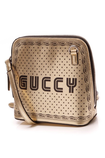 Gucci Moon Steller Mini - Gold Leather Cross Body Bag Gucci Moon Steller Mini - Gold Leather Cross Body Bag Image 1